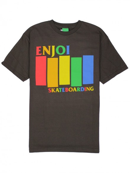 Playera Enjoi Blk Rainbow Dark Chocolate