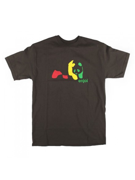 Playera Enjoi Rasta Panda S/S Dark Chocolate