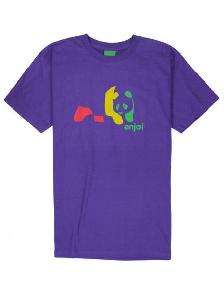 Playera Enjoi Rasta Panda S/S Purple