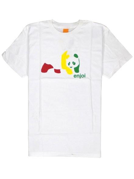 Playera Enjoi Rasta Panda S/S White S