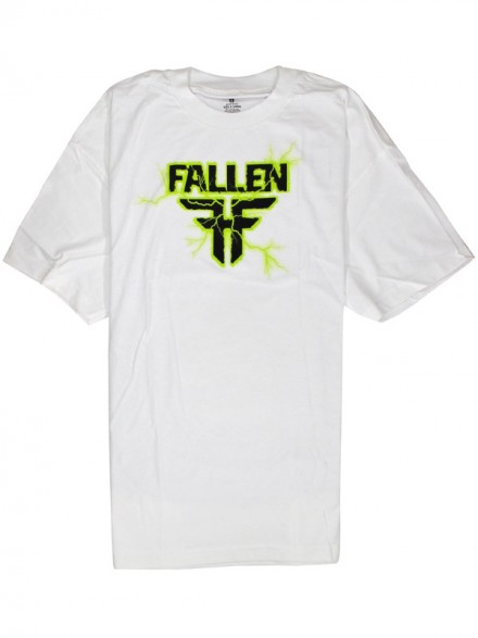 Playera Fallen Charged S/S White/Lime Xl