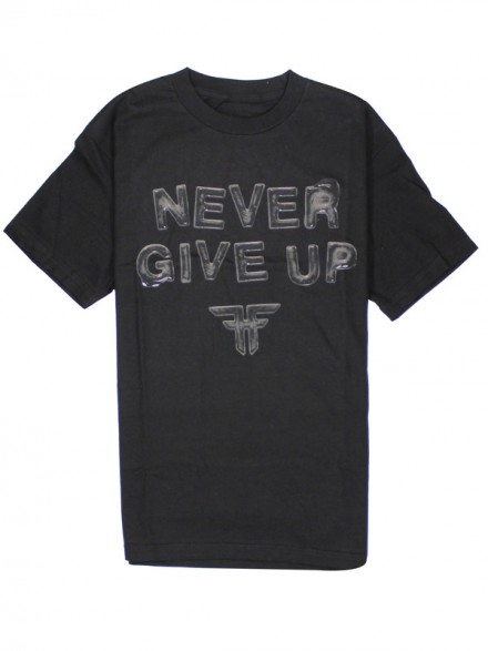 Playera Fallen Never Give Up S/S Blk