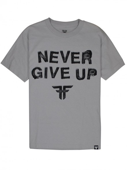 Playera Fallen Never Give Up S/S Silver