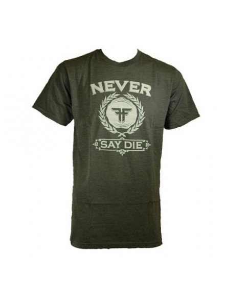 Playera Fallen Never Say Die Premium S/S Heather Charcoal/White Lg