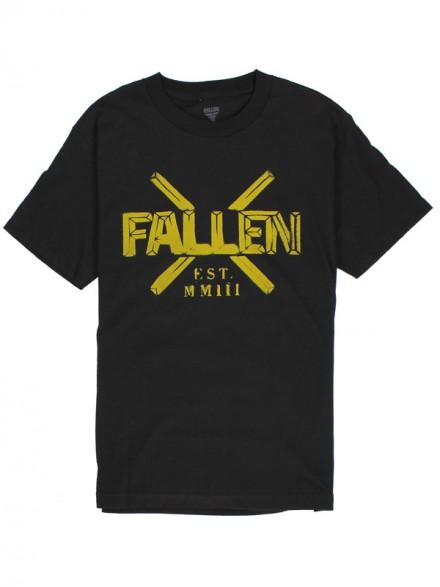 Playera Fallen Overpass S/S Blk/Highlighter