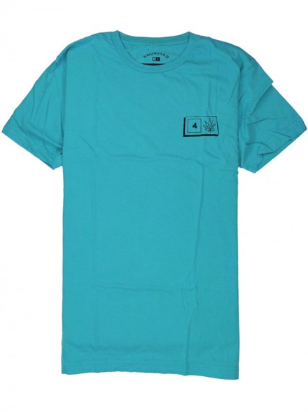 Playera Fourstar Bar Leaf Grn