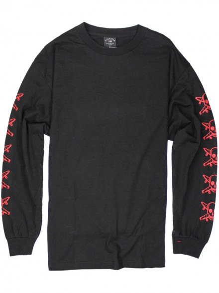 Playera Fourstar Pirate Chain L/S Black