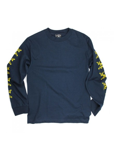 Playera Fourstar Pirate Chain L/S Navy S