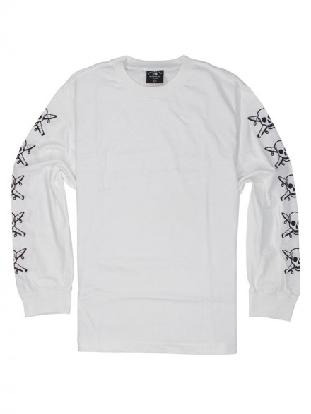 Playera Fourstar Pirate Chain L/S White