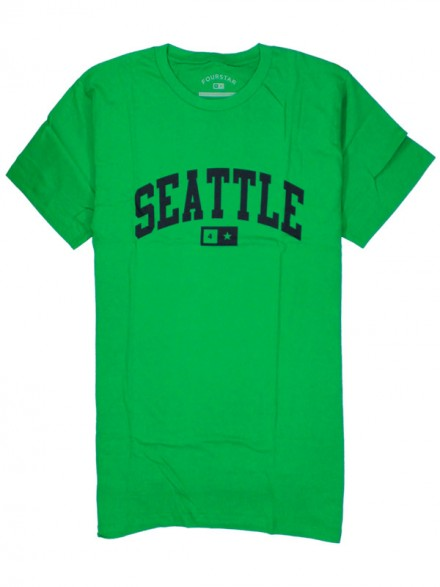 Playera Fourstar Seattle Bar Grn