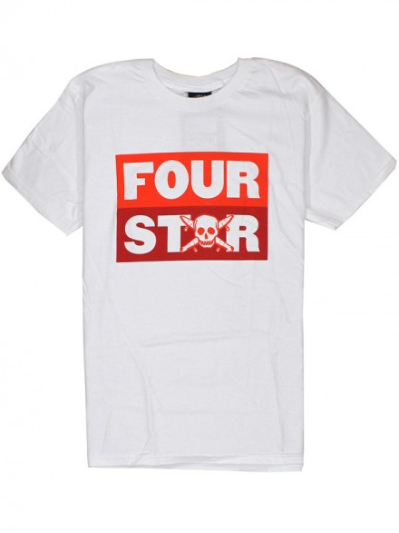 Playera Fourstar Stacked White S