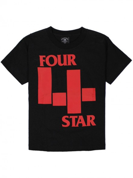 Playera Fourstar Youth 4-Pack Black S