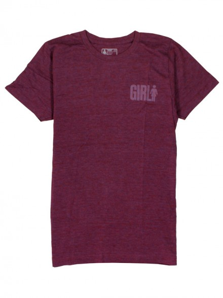 Playera Girl Big Tri Blend Red Htr
