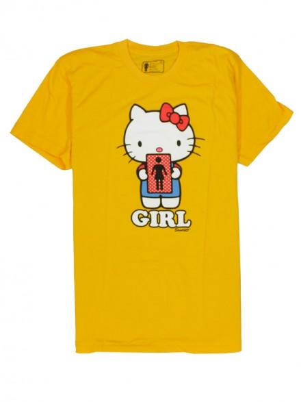 Playera Girl Hello 2 Kitty S/S Premium Yellow