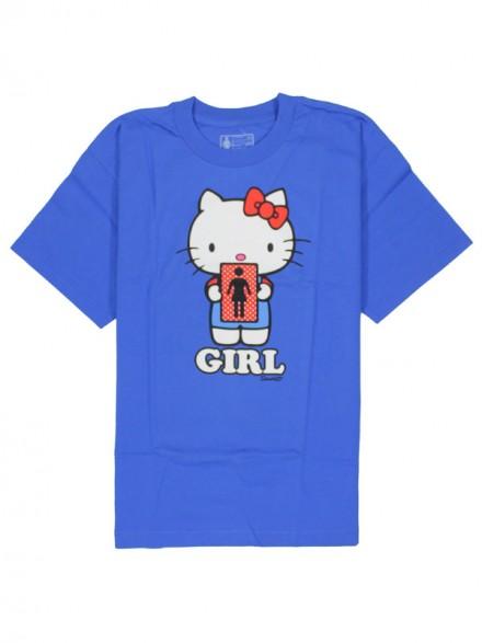 Playera Girl Hello 2 Kitty Youth S/S Royal Xlarge
