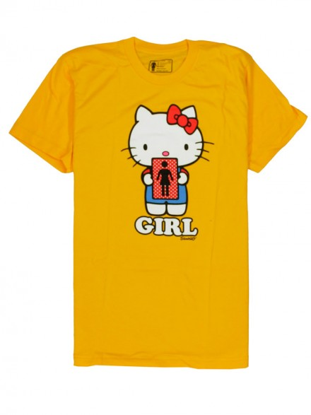 Playera Girl Hello 2 Kitty Youth S/S Yellow Small