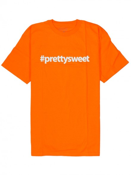 Playera Girl Pretty Sweet Hashtag Orange