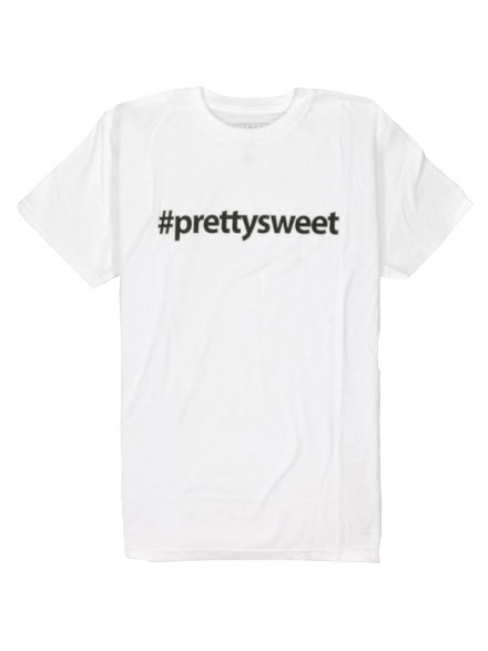 Playera Girl Pretty Sweet Hashtag White