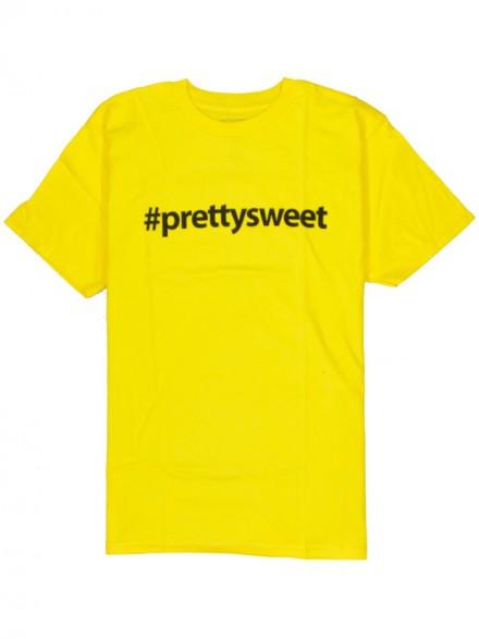 Playera Girl Pretty Sweet Hashtag Yellow