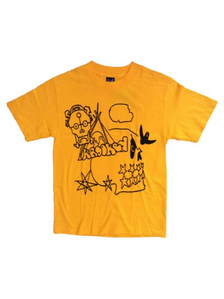 Playera Krooked Starz & Skullz S/S Gold Black Small