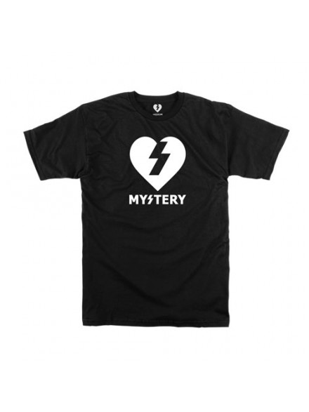 Playera Mystery Heart S/S Black/White