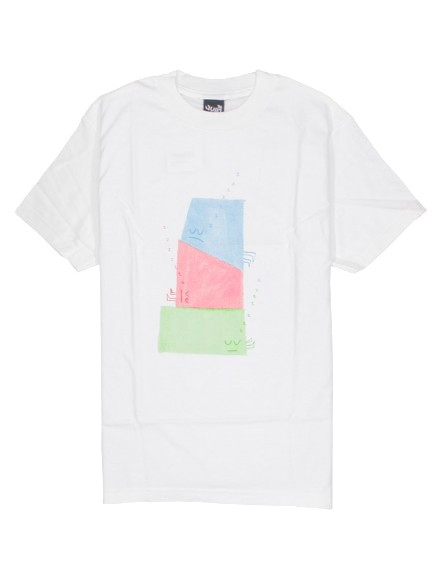 Playera Quiet Life Sleeping Shapes White Small