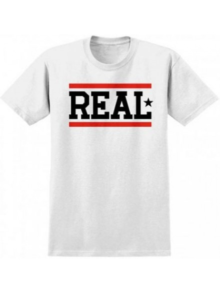 Playera Real Bars S/S Blk Wht Red