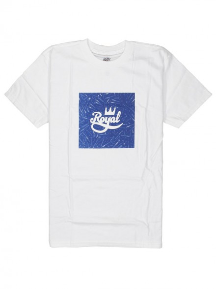 Playera Royal Bolts S/S White
