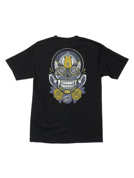 Playera Santa Cruz Sugar Skull S/S Black