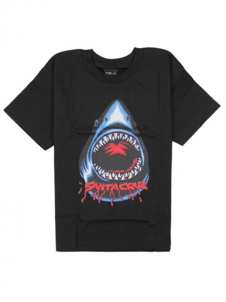 Playera Santa Cruz Youth Retro Shark S/S Black