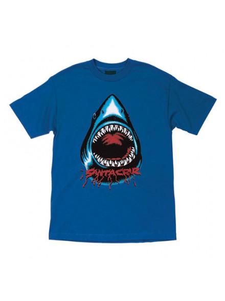 Playera Santa Cruz Youth Retro Shark S/S Royal Blue