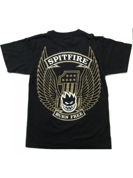Playera Spitfire Free Black S