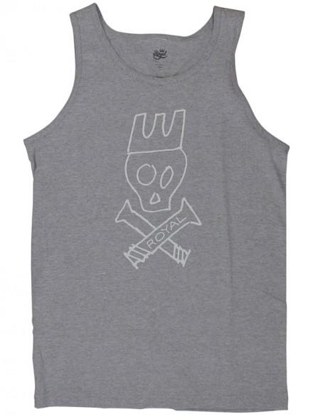 Playera Tank Royal Skull Gry