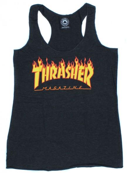 Playera Tank Thrasher Racerback Black (Mujer)