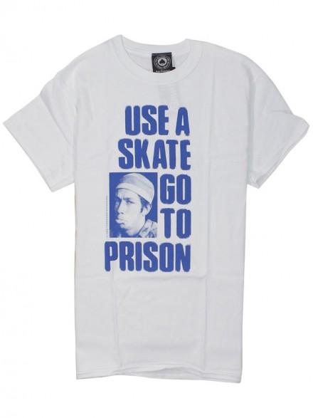 Playera Thrasher Use A Skate Go To Prison White