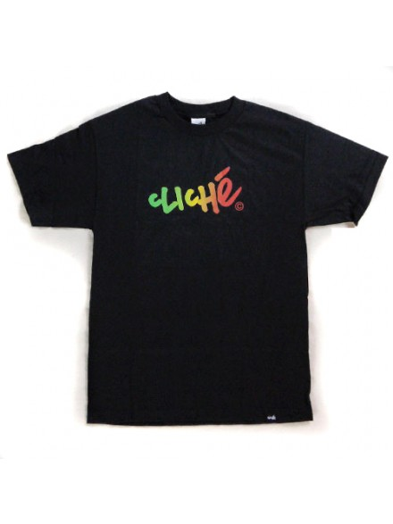 Playera Cliché Handwritten Gradient S/S Black