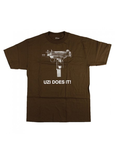Playera Skate Mental Uzi Does It S/S Coffe