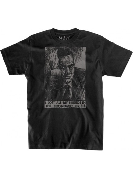 Playera Slave No Friends S/S Black/Grey S