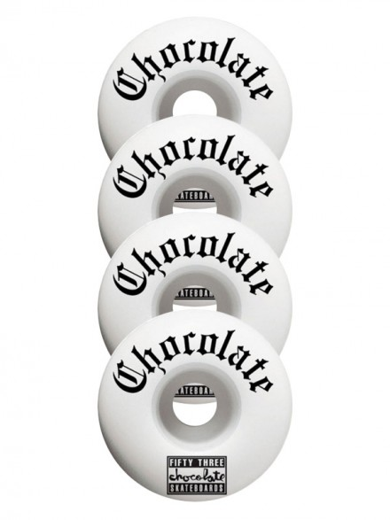 Ruedas Skate Chocolate Eazy-C Wht 53 mm