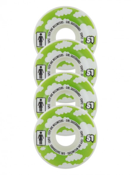 Ruedas Skate Girl Crail Clouds Assorted 51 Mm