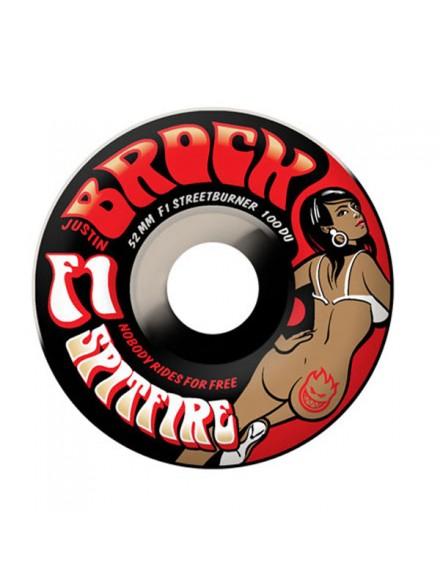 Ruedas Skate Spitfire F1 Sb Grass Brock Swirl 52mm