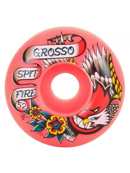 Ruedas Skate Spitfire Og Flash Grosso Red 52mm