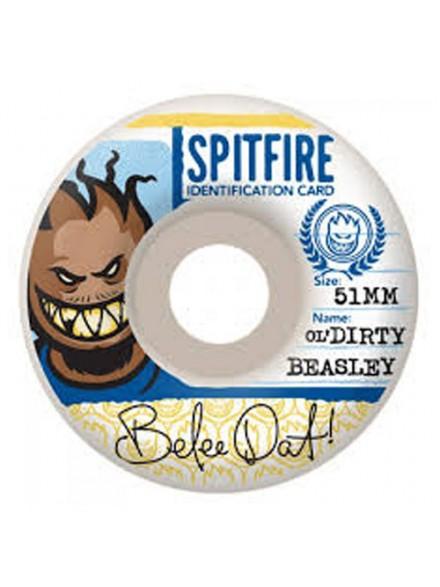 Ruedas Skate Spitfire Ol' Dirty Beasley 52 Mm