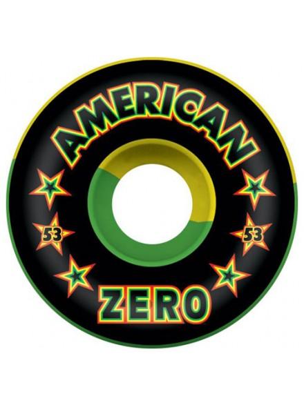 Ruedas Skate Zero American Rasta 53 Mm