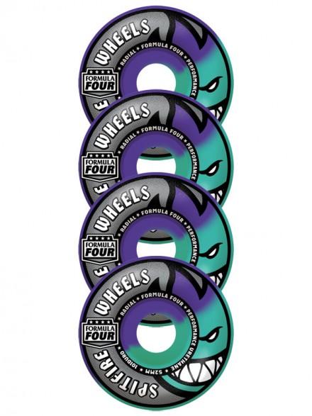 Ruedas Spitfire F4 Purple Mint Swirl Radials 101Du 52mm