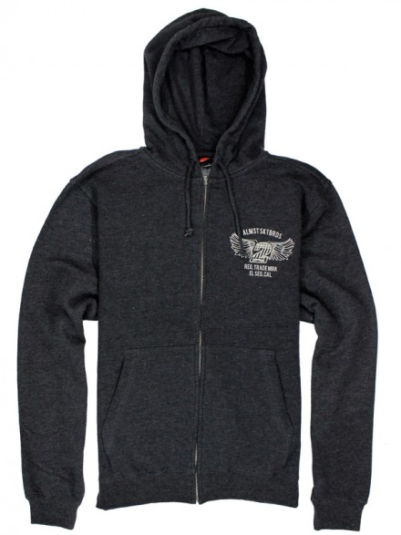 Sudadera Almost Steel Horse Zip Black Heather