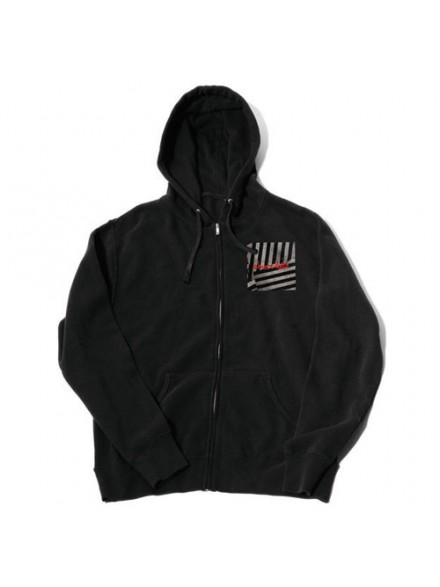 Sudadera Chocolate Chunk Stripes Zip Black S