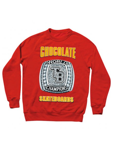 Sudadera Chocolate Tb World Champs Red