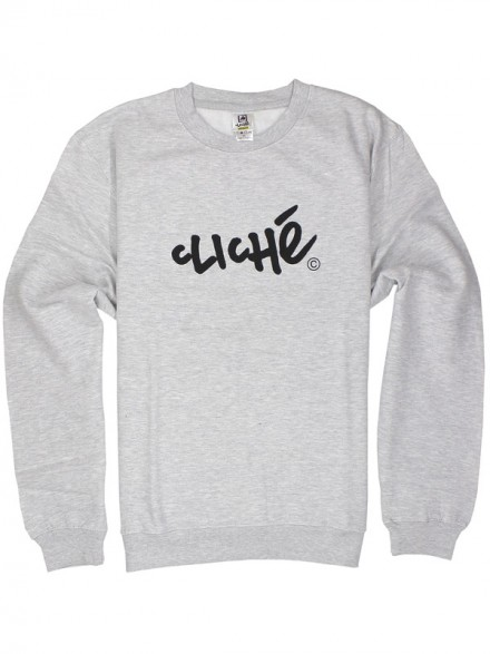 Sudadera Cliché Handwritter Classic Crew Athletic Heather Blk