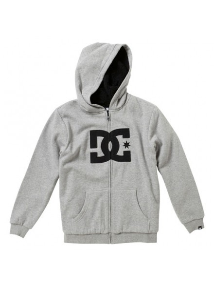 Sudadera Dc Zip Star Htr/Gry/Blk